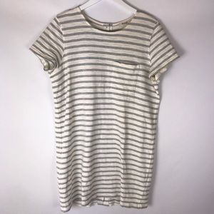 Madewell Dresses - Madewell button-back tee dress Size L  Gray/Ivory